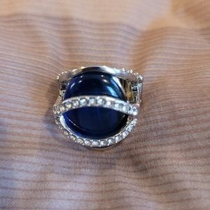 Papparazzi navy blue stretchy band ring